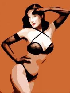 Sailor position, Woman, Girl, Cubist artwork, Sketch