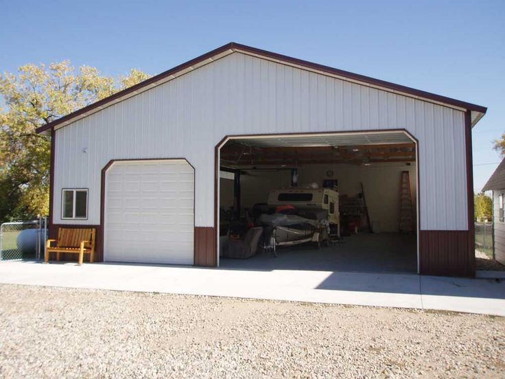 4 car garage plans 63 24 x 40 pole barn plans 4 car for Metal garage plans