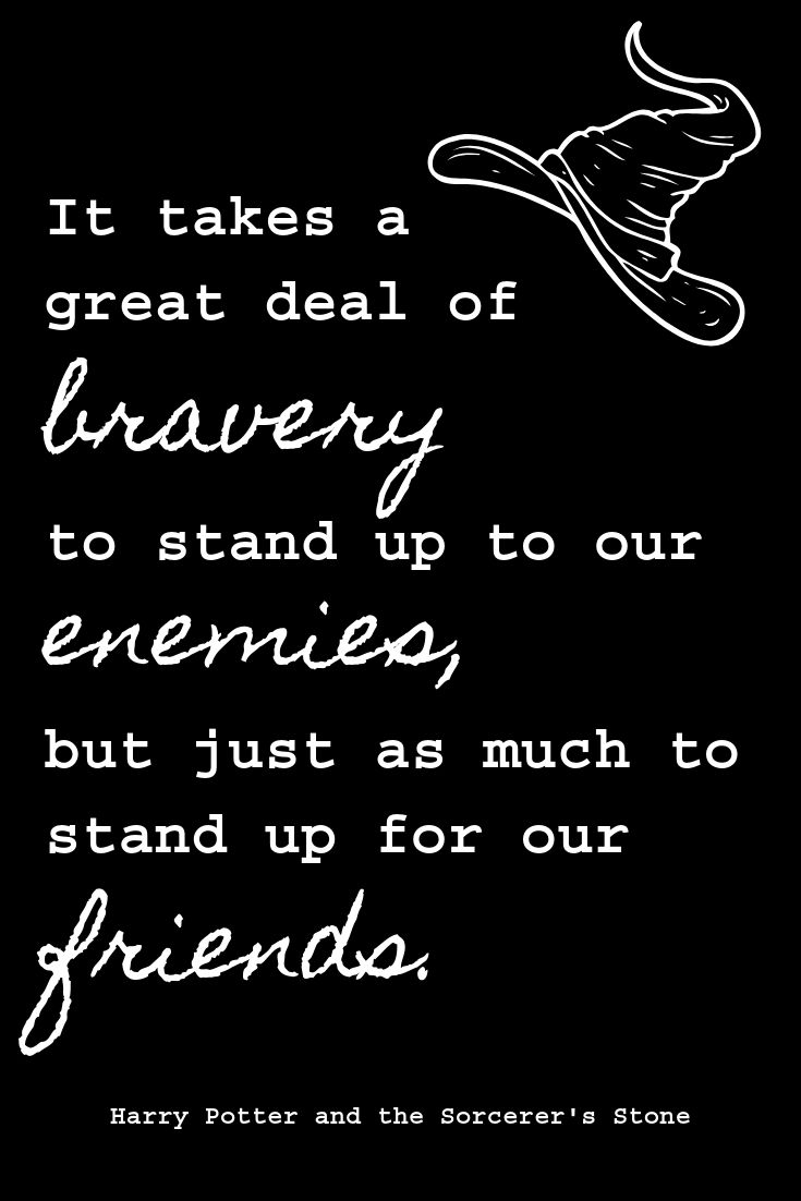It Takes A Great Deal Of Bravery To Stand Up To Our Enemies But