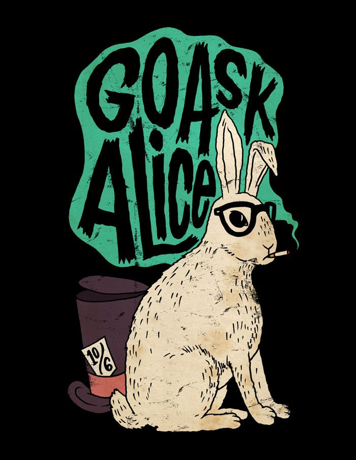 would be interesting as a tattoo. incorporates two of my favorite things; jefferson airplane (the 60s music scene as a whole, also) and alice in wonderland. <3