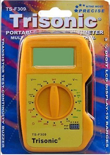 Digital Voltmeter Ammeter Ohmmeter Multimeter Volt AC DC Battery Tester Meter  #Trisonic