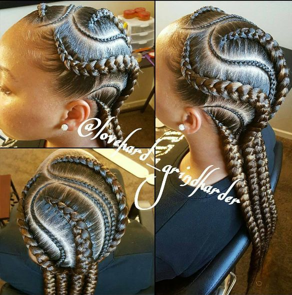 There's an ART to these perfectly clean parts and laid edges. | 17 Photos That Prove Cornrows Are For Black Girls