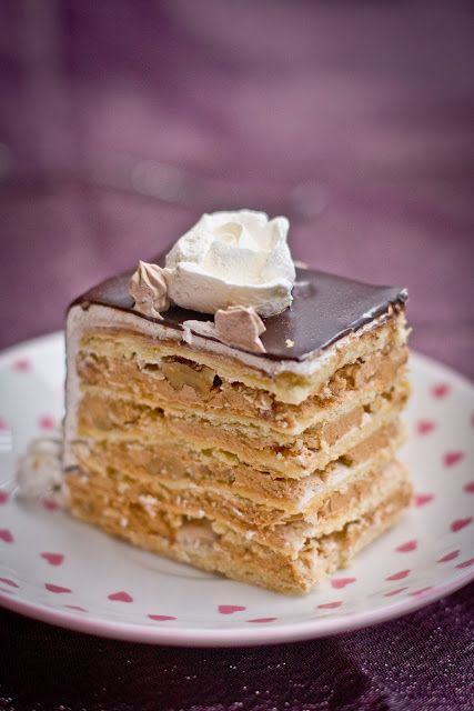 The most popular and most often requested cake in our family. Markiza cake consists of thin shortbread cake layers, topped with meringue & walnuts, then layered with dulce de leche filling. The...