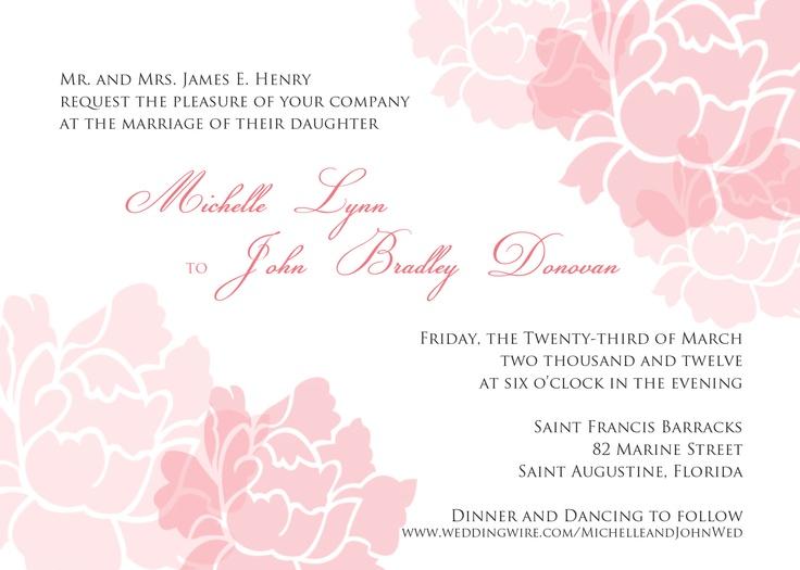 Wedding Invitation (CB Designs Original 2011)