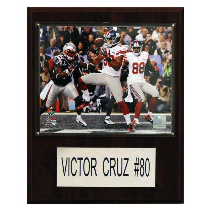 NFL 12 x 15 in. Victor Cruz New York Giants Player Plaque - 1215VICTCRUZ
