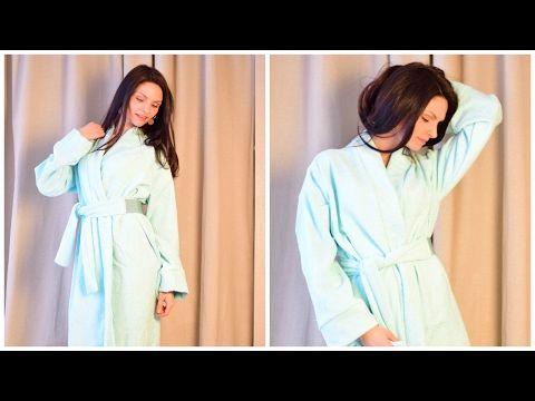 Домашний халат без выкройки! Шьём из прямоугольников. - YouTube