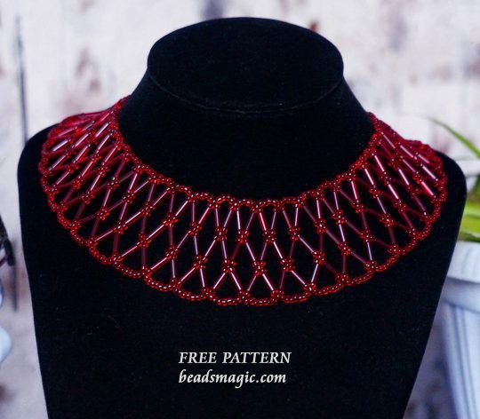 Free pattern for necklace Strawberry | Beads Magic | Bloglovin'