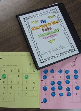 Leader in Me student data notebooks  These are very cool. Great way to help students be responsible for and aware of assessment data. Love the idea of having the kids record which letters they knew, and how many total. Also love the writing samples in the binder...hmmm...