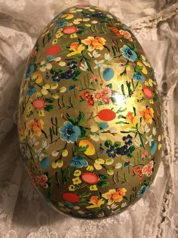 Vintage German Paper Mache Easter Egg Vintage Easter Easter