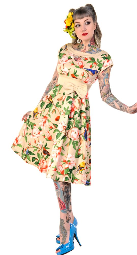 The Retro Birds Swing Dress will have you looking pinup perfect this summer! #blamebetty #summer #pinup