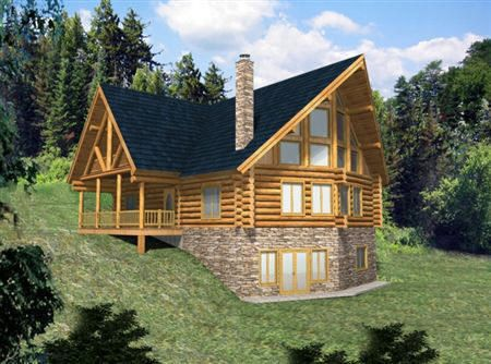Small One Story Log Homes | Small Cabin Plans   Log Cabin Connection | Log  Cabin