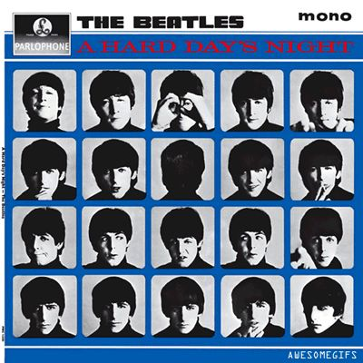 The Beatles, A Hard Day's Night | 23 Classic Album Covers That Are Even Better As Animated GIFs