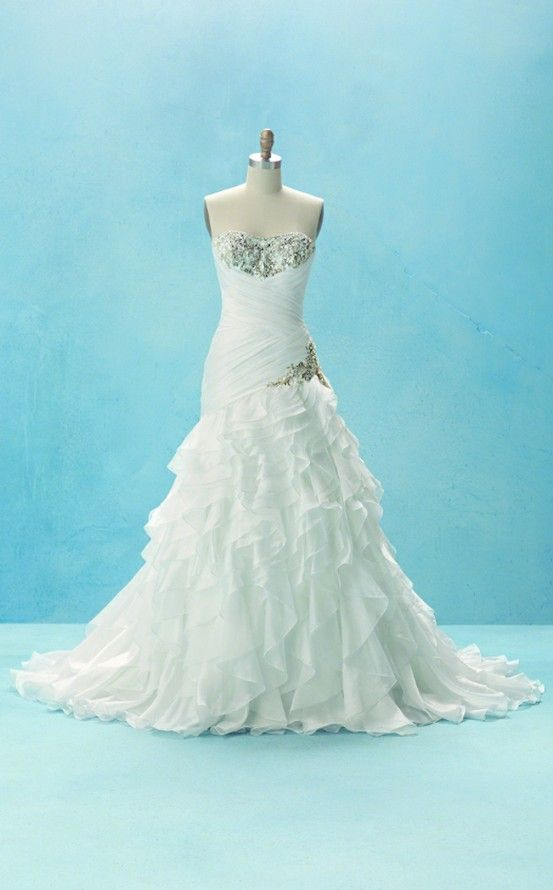 Princess Jasmine inspired wedding dress by Alfred Angelo! Gorgeous!! Bling! Sparkles!