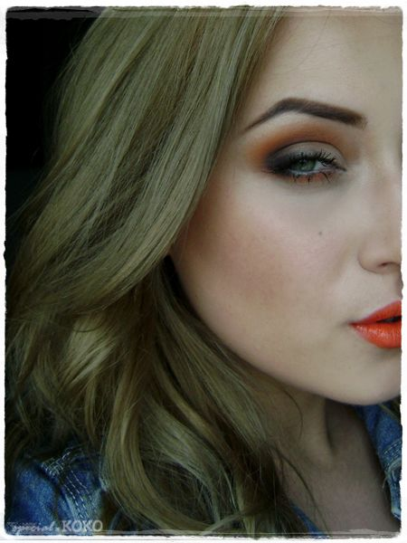 Special Koko - Make-up, beauty & fashion!: Bright orange make-up look ♥