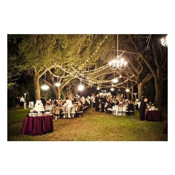 Green and Purple Outdoor Wedding in Charleston, South Carolina... ❤ liked on Polyvore featuring wedding
