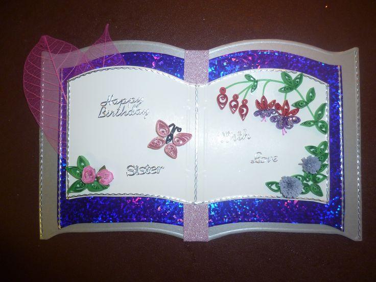 Quilled Bookatrix Card Made September 2011