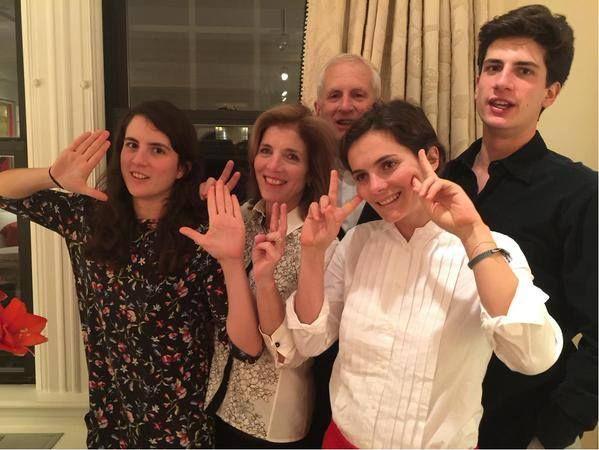 Ambassador Kennedy, Edwin Schlossberg, Rose Schlossberg, Tatiana Schlossberg & Jack Schlossberg wishing everyone a Happy New Year! ~ Dec. 31st, 2014