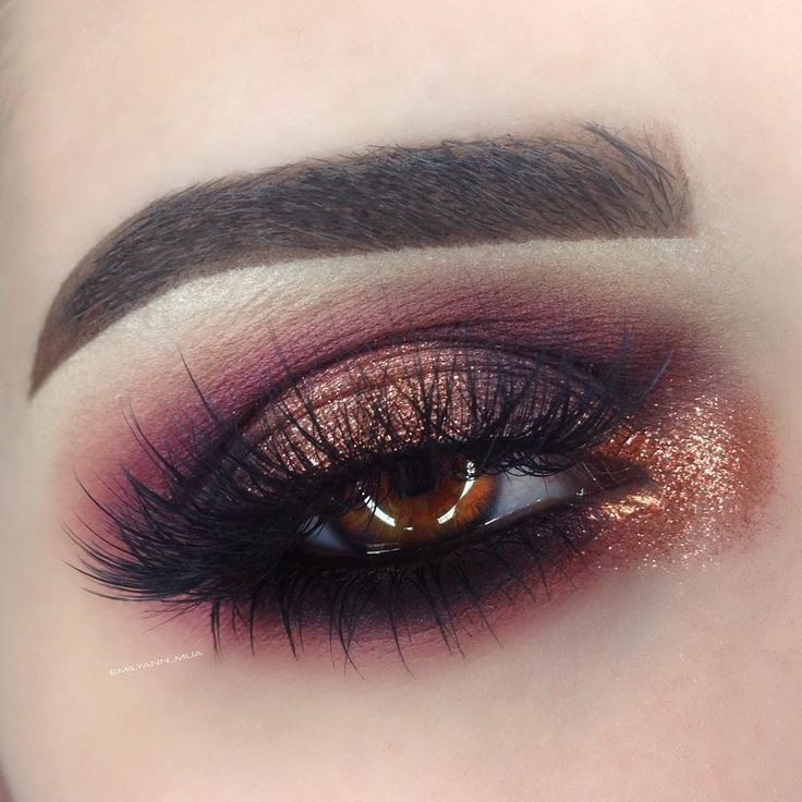 """EMILY MCLAUGHLIN on Instagram: """"Products Used: @anastasiabeverlyhills Artist Palette (Dusty Rose, Aubergine, Coal) Dark Brown Dip Brow Pomade. @sugarpill """"Penelope"""" Loose Shadow. @nyxcosmetics """"Black Bean"""" Jumbo Eye Pencil. @eylureofficial """"Vegas Nay Grand Glamour"""" Lashes @urbandecaycosmetics Vice 3 Palette (Alien, Alchemy)"""""""