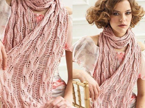 #14 Drop Stitch Scarf, Vogue Knitting Spring/Summer 2012 - YouTube