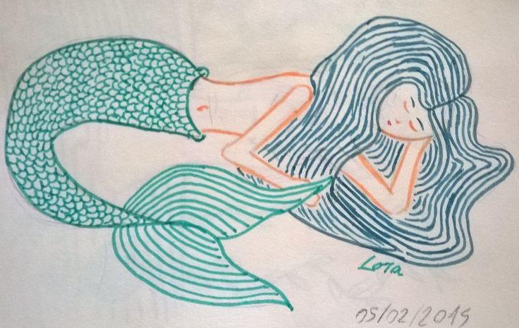 La sirène endormie - par Abby Birthday (aka Lora)