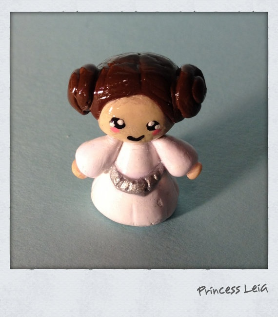 Pricess Leia by ClayHoot on Etsy, $8.00