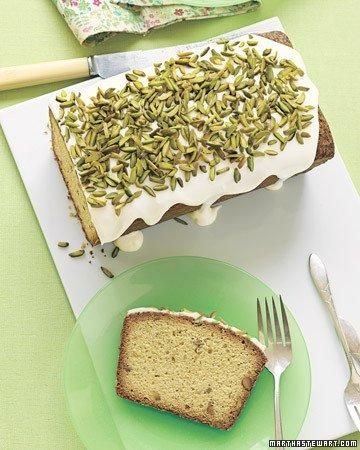 Pistachio Pound Cake with Drippy Icing RecipePoundcake, Pound Cakes, Quick Breads, Cream Cheese, Pistachios Pound, Martha Stewart, Ice Recipe, Pound Cake Recipes, Drippy Ice