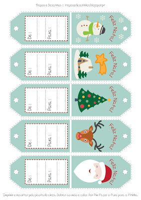 Moldes Grátis | Free Sewing Patterns: Etiquetas para Presentes de Natal | Free printable...