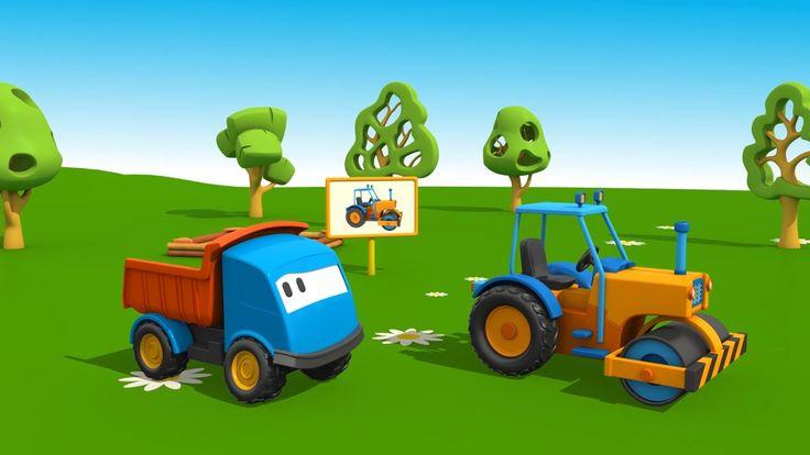 Cartoni Animati per Bambini - Leo il Camion Curioso e il Rullo Compressore