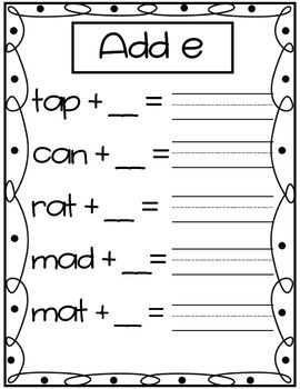 Long Vowel a Freebie