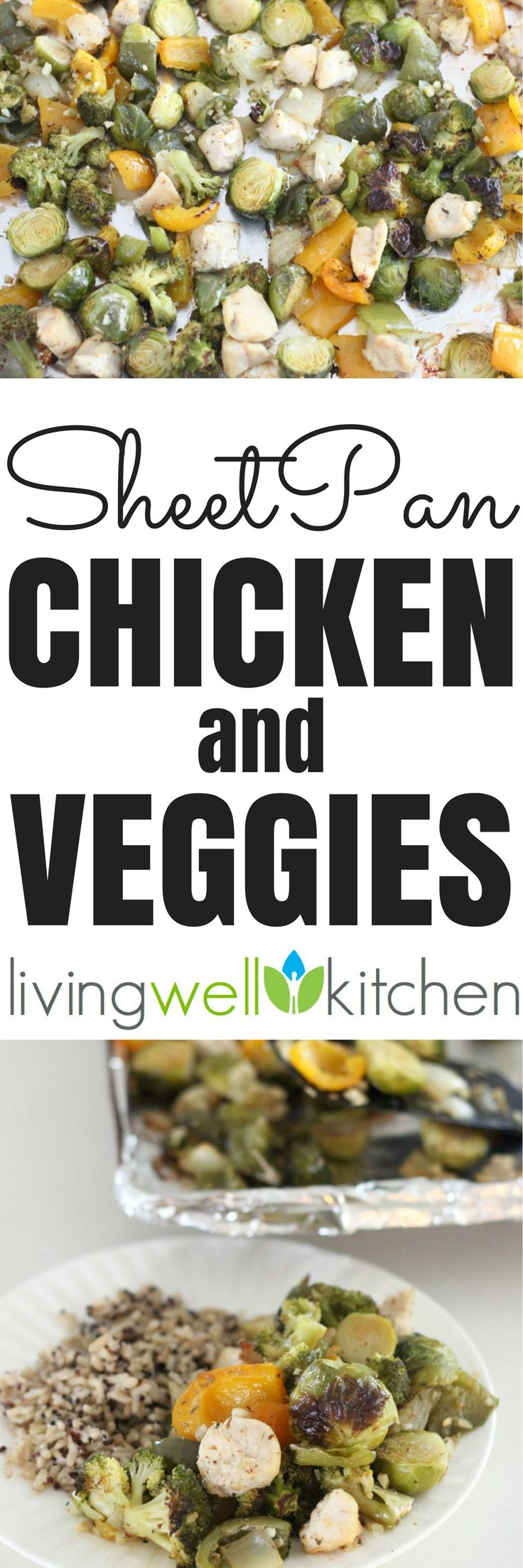 All the ingredients for this Sheet Pan Chicken & Veggies from @memeinge are cooked on one baking sheet, so you have less hands on time and less clean up! Gluten free, dairy free recipe perfect for an easy dinner