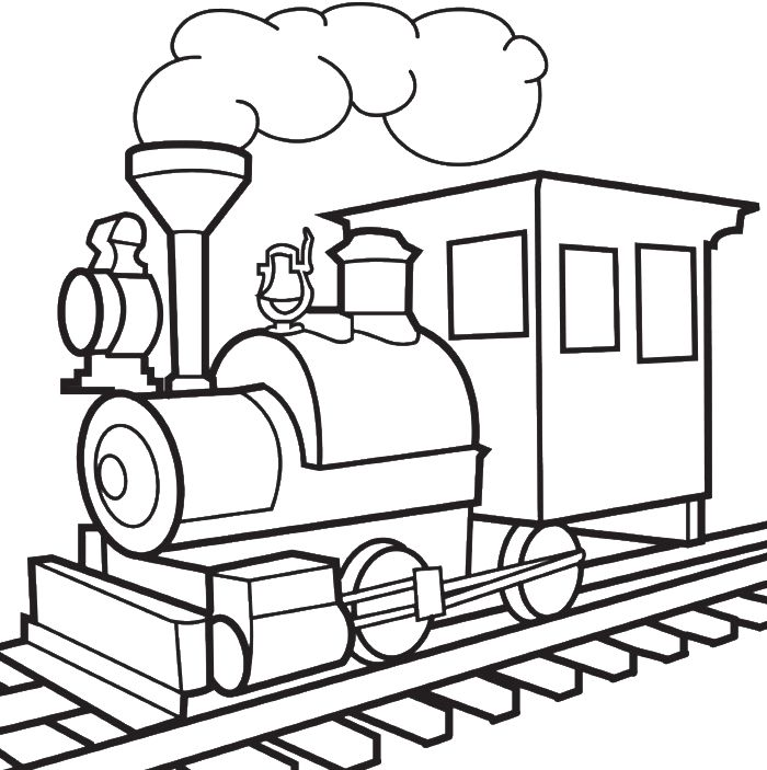 A Short Train Coloring Pages