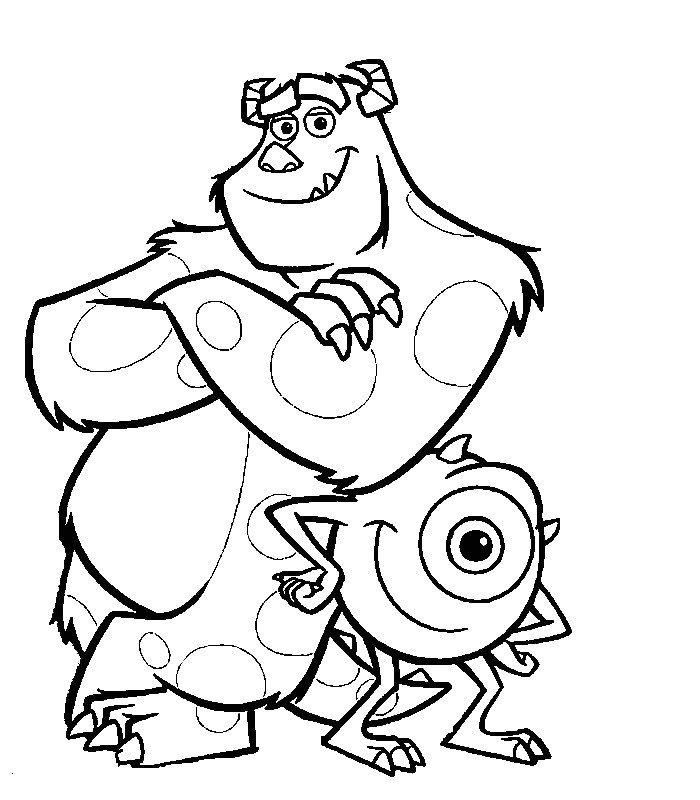 Monsters And Company Coloring Page To Download Monster Coloring Pages Disney Coloring Pages Coloring Pages