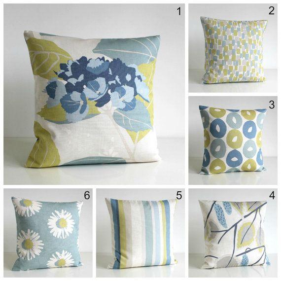 20x20 Pillow Cover, Scandinavian Pillow Sham, 20 Inch Pillow Cover, 20x20 Cushion Cover, Pillowcase - Scandi Duck Egg Collection
