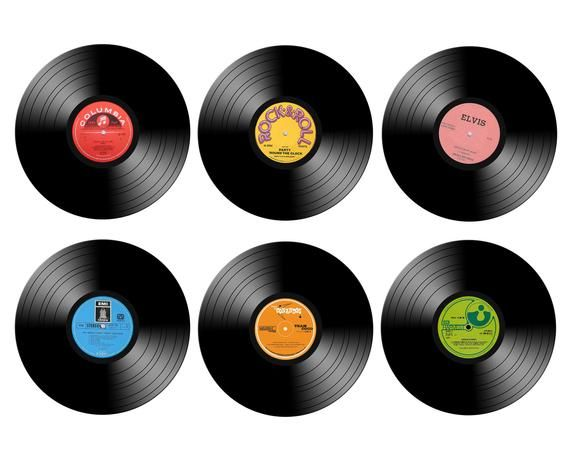 Faux 15 Vinyl Record Round Placemats Tactile Basket Etsy In 2020 Vinyl Vinyl Records Placemats