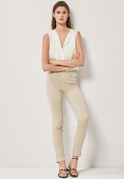 11da4cdebdf4d2 MIT HOHEM BUND - Jeansy Skinny Fit - beige | to buy | Women's white trousers,  Trousers women, Trousers