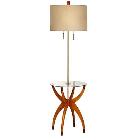 Vanguard Floor Lamp with Glass Tray Table - #5D489 | Lamps Plus