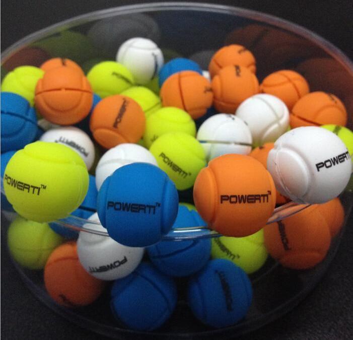 2016 Powerti Latest Globular Tennis Racket Vibration Dampeners Tennis Racquet Balls Design Shock Dampener 50 Pcs Lot Sports Racquet Sports Tennis