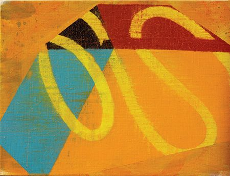 David Row   Triquetra,2011   Oil on canvas  12 x 16 inches