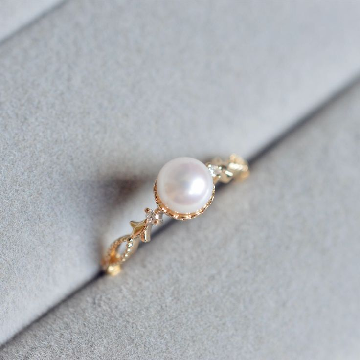 best 25 pearl engagement rings ideas on