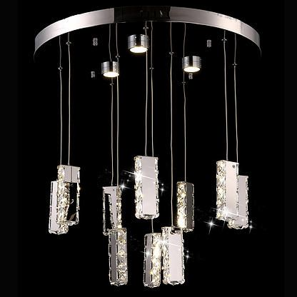 Pendant Lights - Silicon Lighting [Model] CH08-CUBOID-A10 [Width] 600 [Height] Adjustable [Suspension] Adjustable Max 1000mm [Lighting source] LED [No. of crystal ] 90 Diamond Cut Crystals http://www.siliconlighting.com.au/#!chandelier/cpib