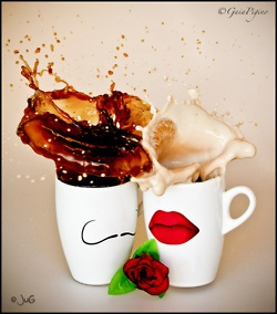 .: Coffee Lovers, Memorial Cups, Cups Of Memorial, Teas, Coff Couple, Memorial Lovers, Sharpie Art, Coff Romances, Memorial Art