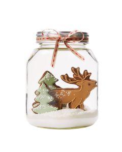 Reindeer Cookie Snow-Globe