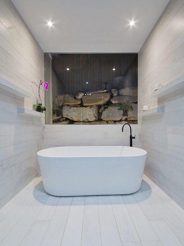 Master bathroom featuring Phoenix Vivid Slimline Floor Mixer in matte black. 17 Best images about Bathrooms on Pinterest   Taps  Basin mixer