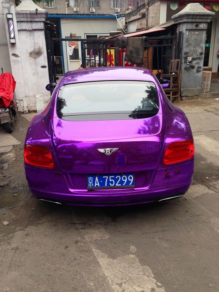 Purple foil Bentley