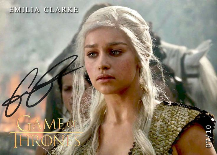 Emilia Clarke - Targaryen *Andals Variant - Game of Thrones SA2 Signed AutoRepro