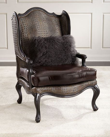 Die besten 25 leather wingback chair ideen auf pinterest for Roter ohrensessel