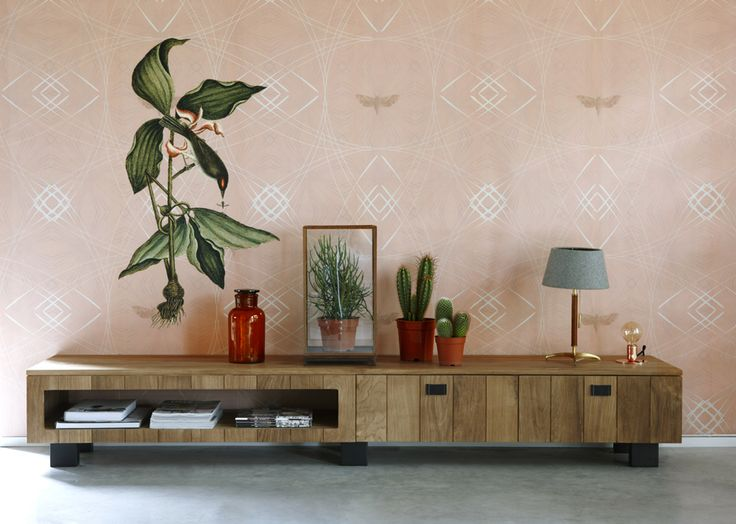 Wallprint Orchid bird
