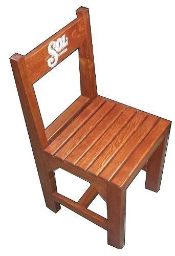 silla de madera uso rudo para restaurante/bar