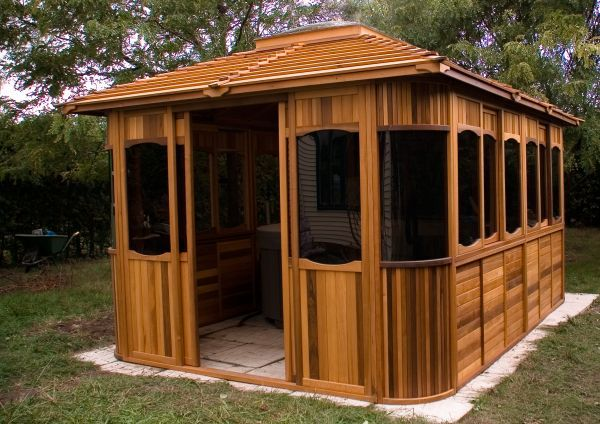 17 best images about gazebo kits and hot tub shelters on for Hot tub shelters