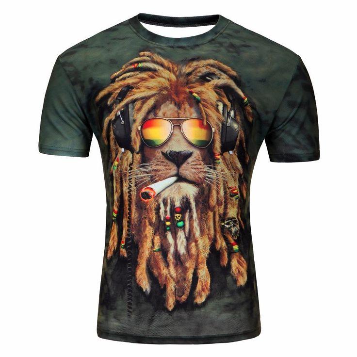 3D Short Sleeve T-Shirt -Men's T-Shirts